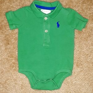 Polo Ralph Lauren infant top with snaps 3 months